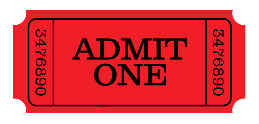 Meal Ticket Template – Admit One Template