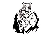 Free Designs - Bengal Tiger Tattoo Wallpaper - Cliparts.co