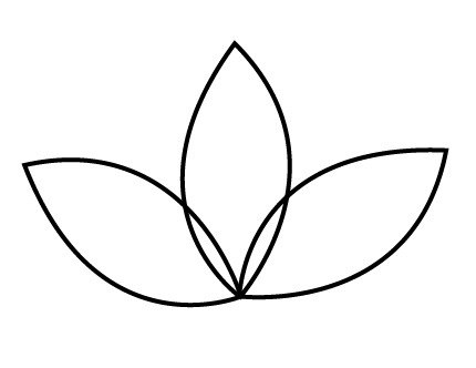 Flower Petal Outline - Cliparts