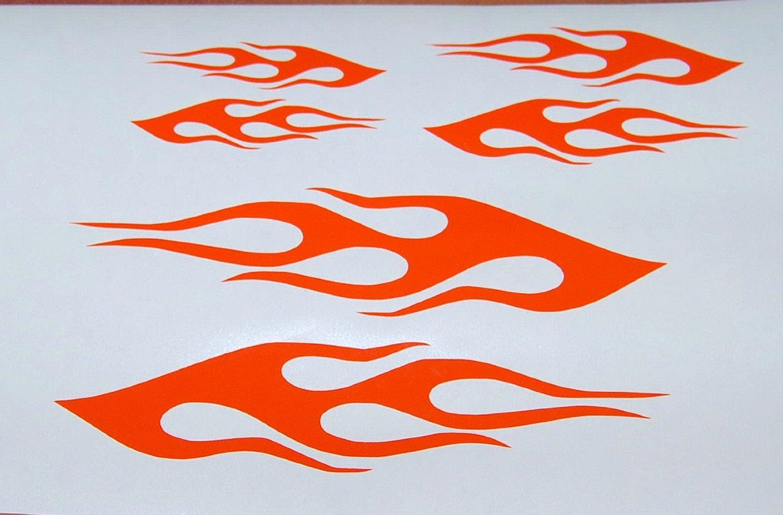 Design a bike sticker amazon com flame vinyl decal bike gas tank helmet stickers