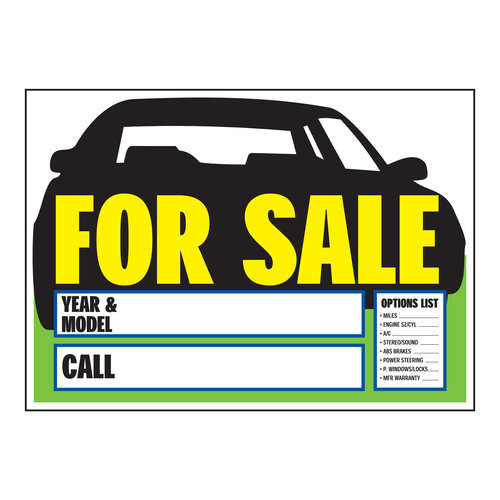 Car Sale Sign Clipart