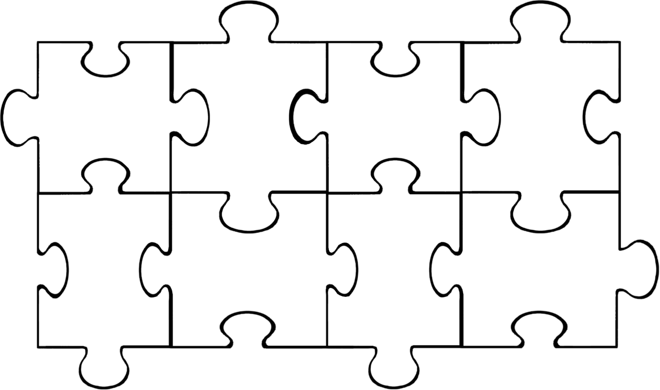 Large Jigsaw Puzzle Template. jigsaw puzzle piece outline 2 clip ...