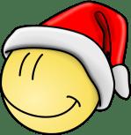 Santa Smiley Face Clip Art