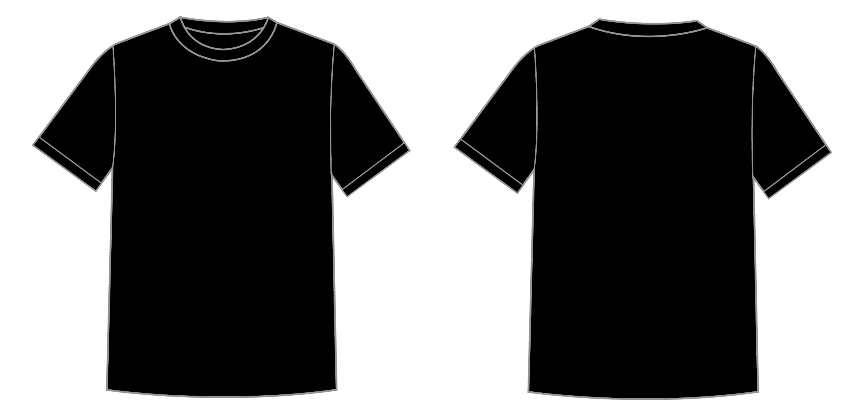 Black t shirt psd template - Black T Shirt Design Template Photoshop Printable T Shirt Template Cliparts Co Download