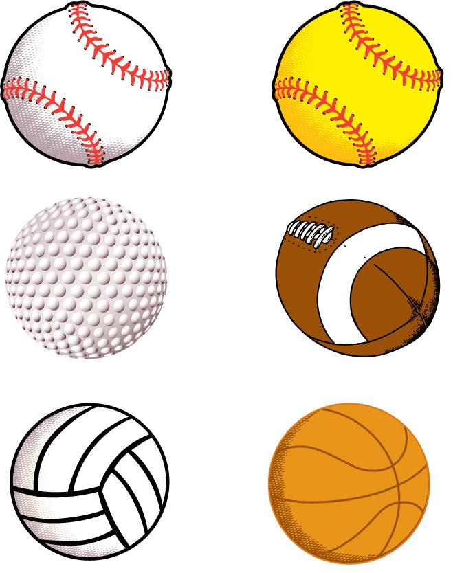 Pics Of Sports Balls - Cliparts
