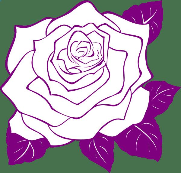 Rose outline clip art cliparts co