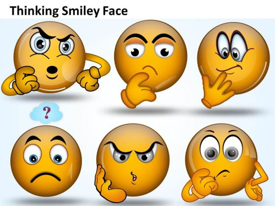 Ppt Thinking Smiley Face Graphic Communication Skills PowerPoint