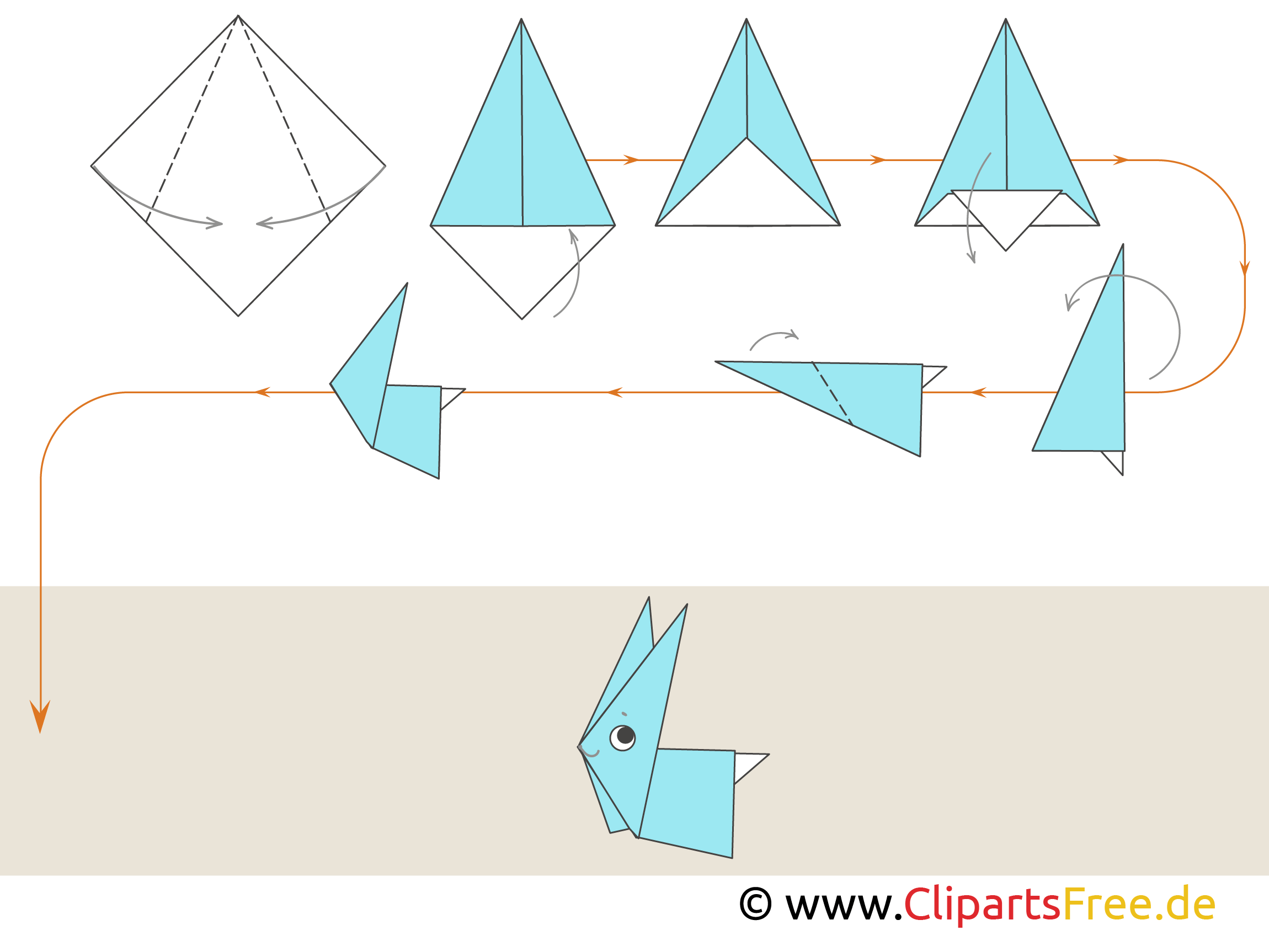Bastelanleitung Hase Anleitung Origami Tiere Hase