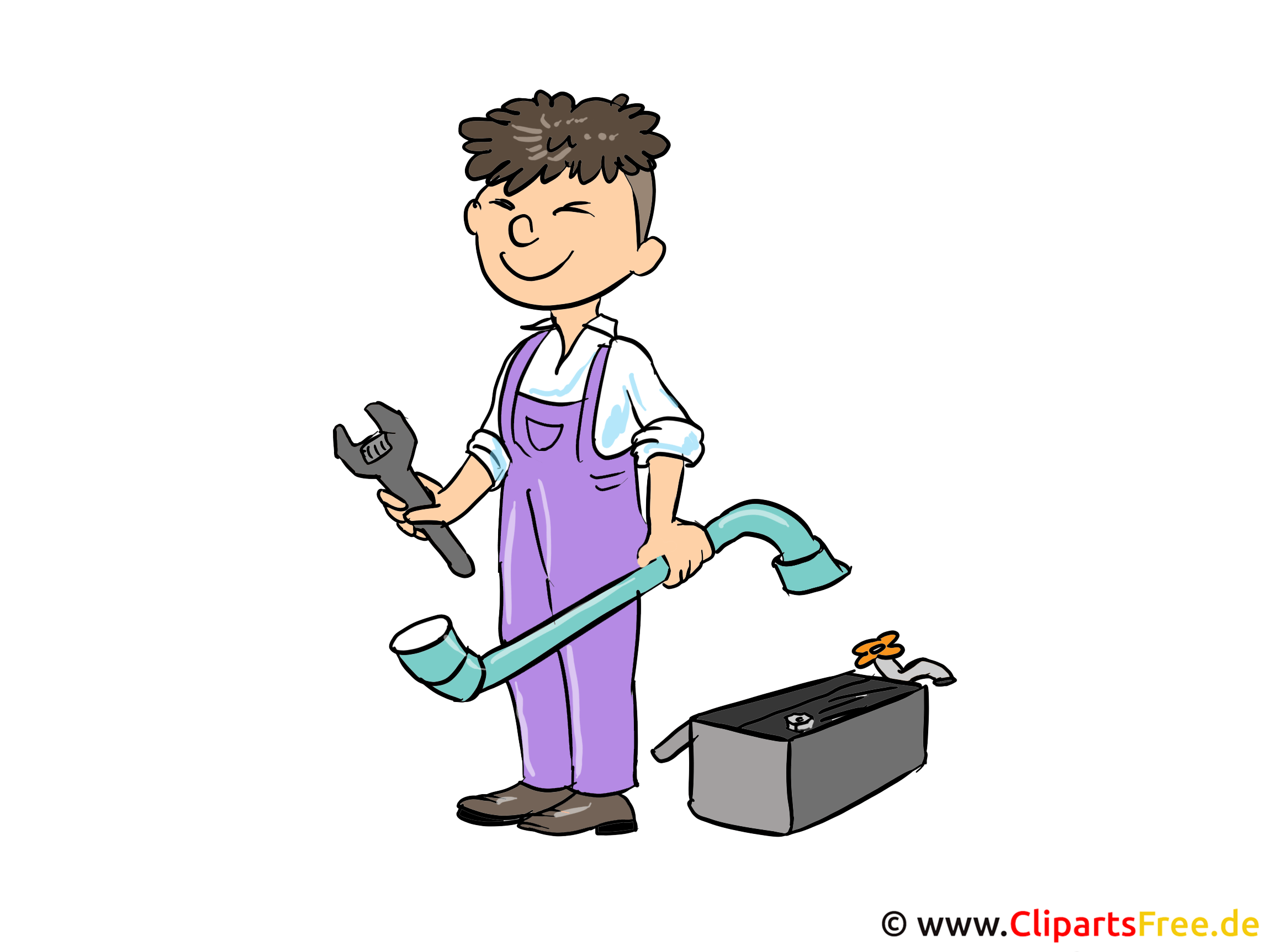 Bilderrahmen Programm Handwerker, Schlosser Clipart, Bild, Cartoon, Illustration