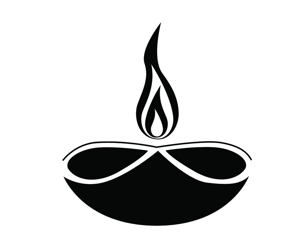 Animated Diwali Diya Wallpapers Deepam Clipart Black And White 2 187 Clipart Station