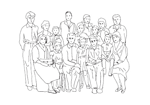 Extended Family Clipart Black And White 5 Clipart Station