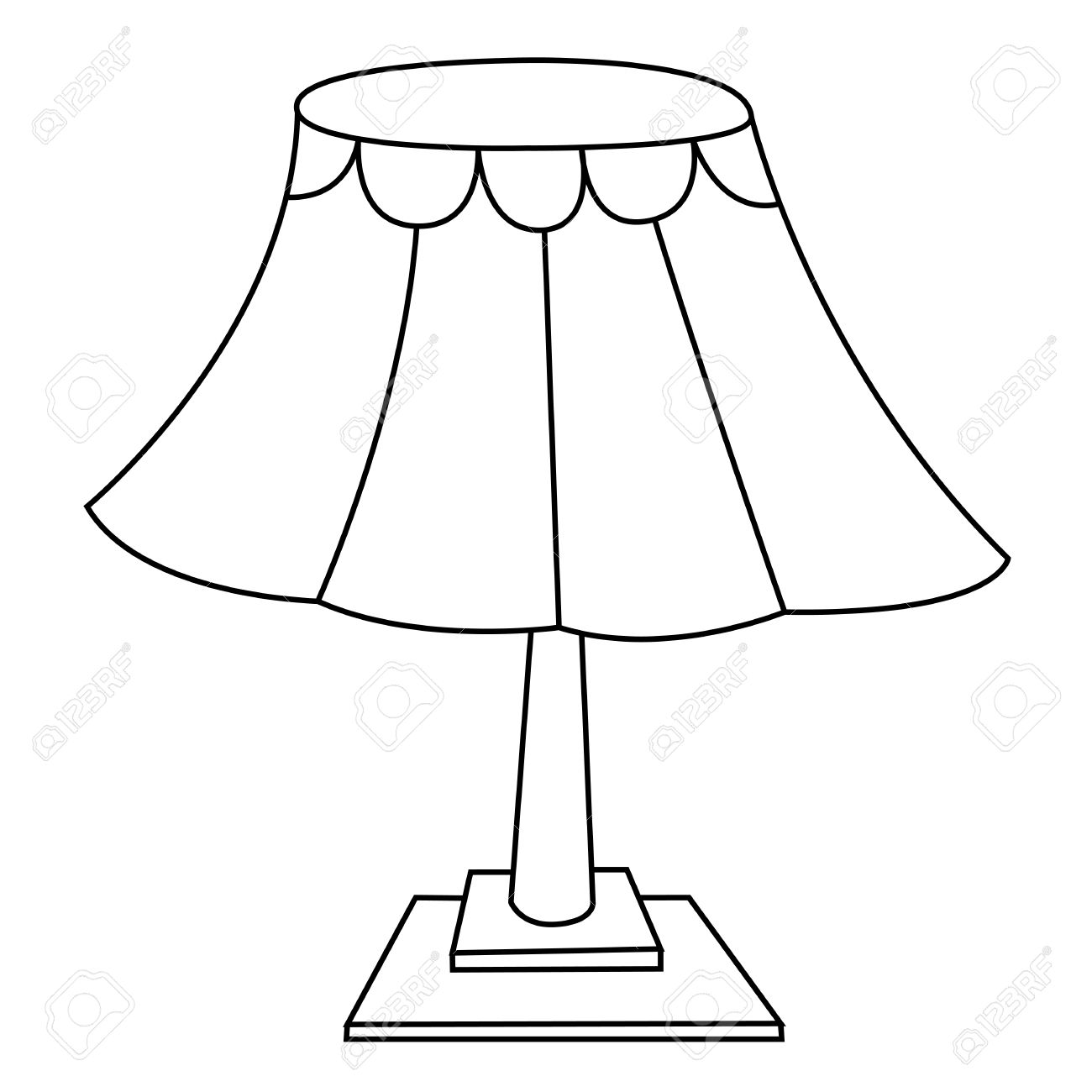 Black And White Lamp Lamp Clipart Station