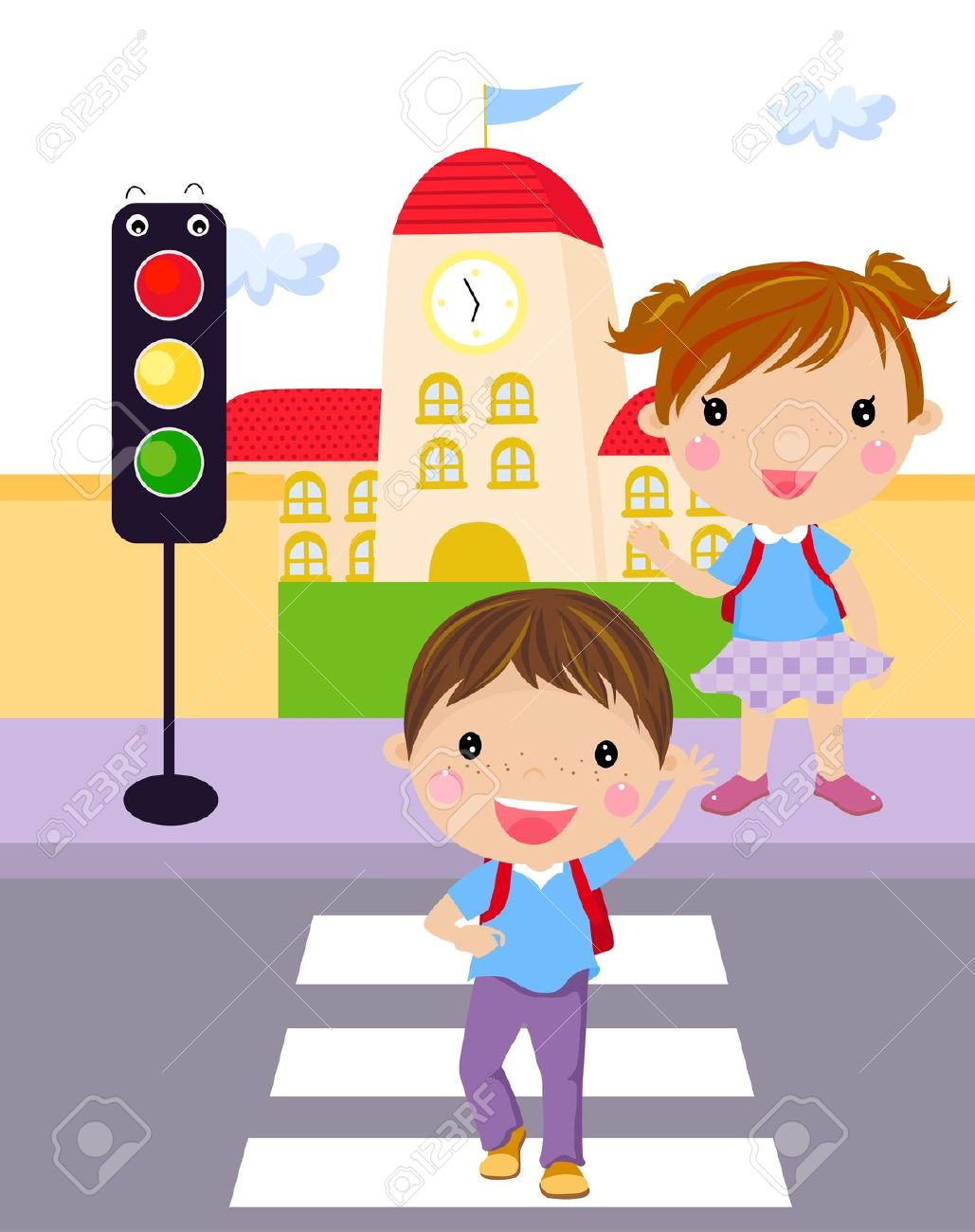 Road Crossing Clipart Road Safety Clipart 5 Clipart Station