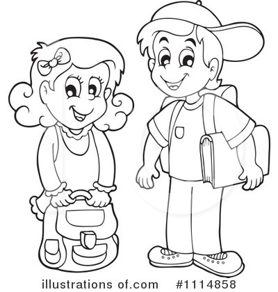 Friendship Wallpapers Of Boy And Girl School Boy Clipart Black And White 7 Clipart Station