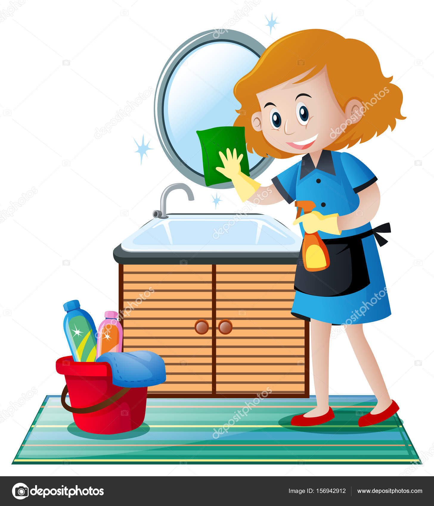 Waschbecken Clipart The Cleaner Cleaning The Toilet Clipart Station