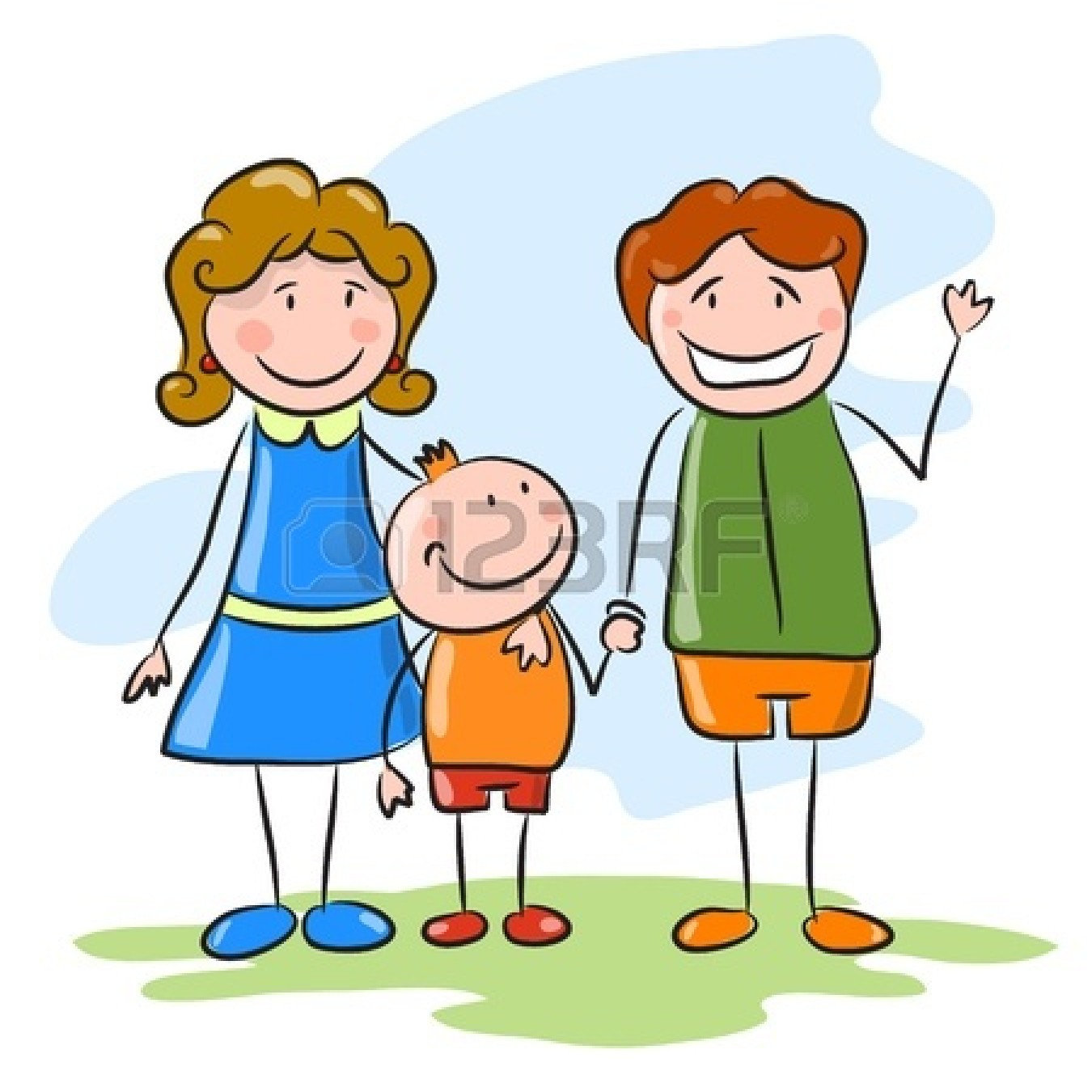 Happy Family Life Clip Art Happy Family Cartoon Clipart Clipart Suggest