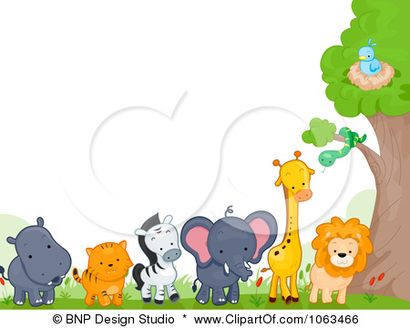 Cute Elephant Cartoon Wallpapers Animal Border Clipart Hd Clipground