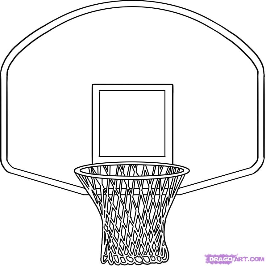basketball net with stand clipart - Clipground