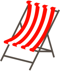 beach chair clipart transparent - Clipground