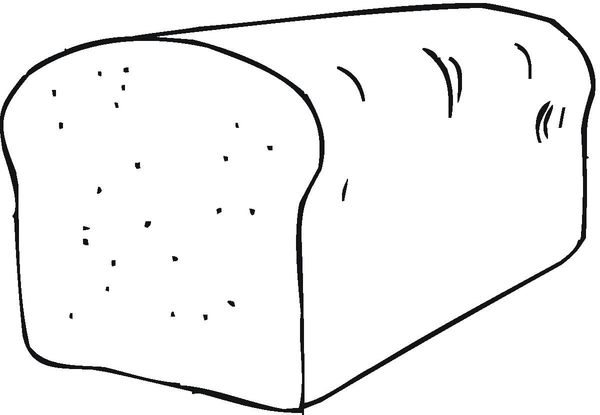 Loaf Clipart Black And White Bread Clipart To Color Clipground