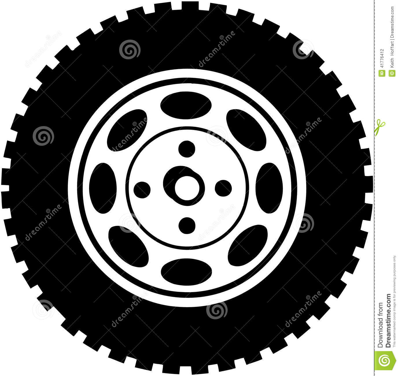 Truck Tire Clipart Old Car Tire Clipart Vector Clipground