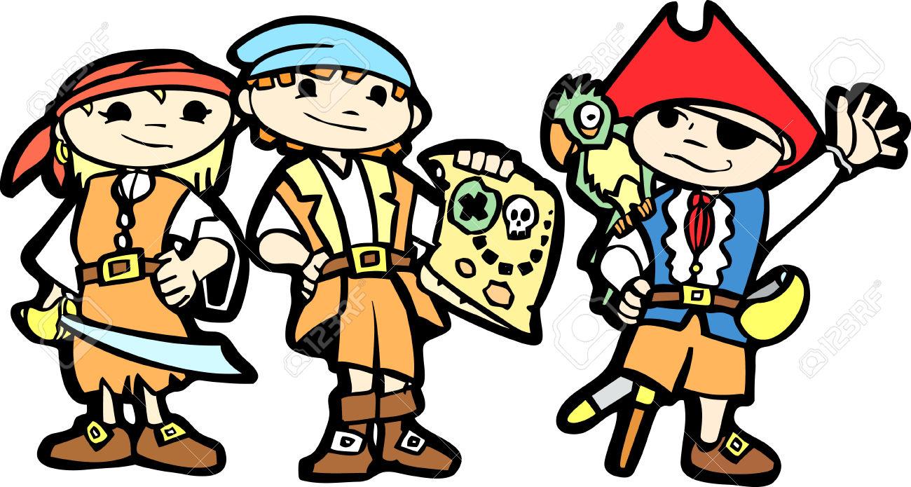 Children Dress As Pirate Clipart Clipground