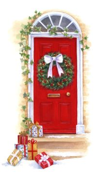 christmas front door clipart free - Clipground