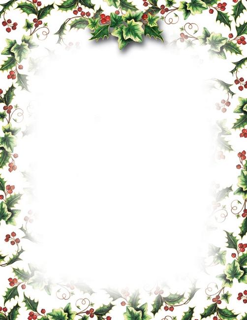 free christmas letterhead clipart - Clipground