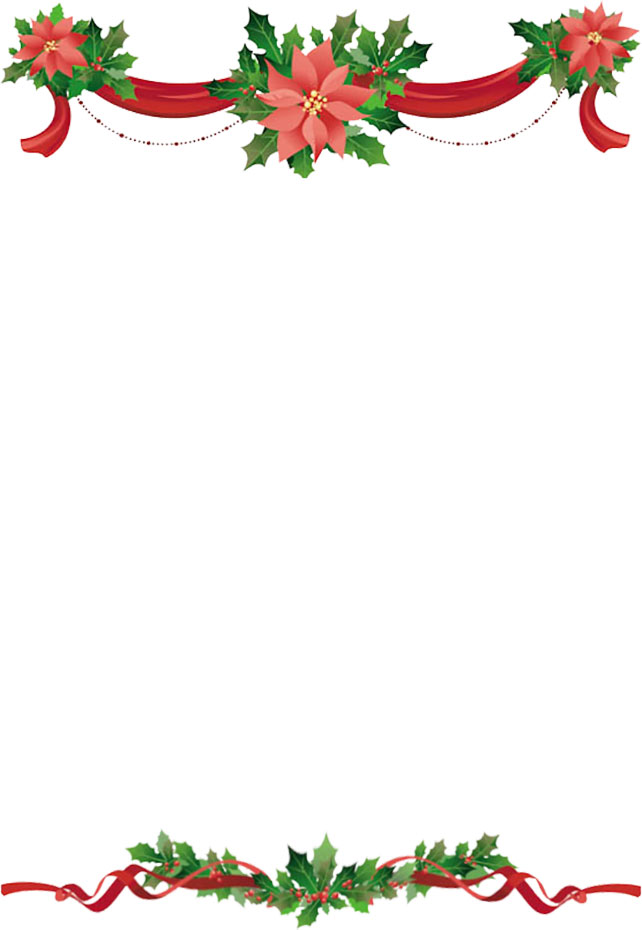christmas clip art borders holly - Clipground