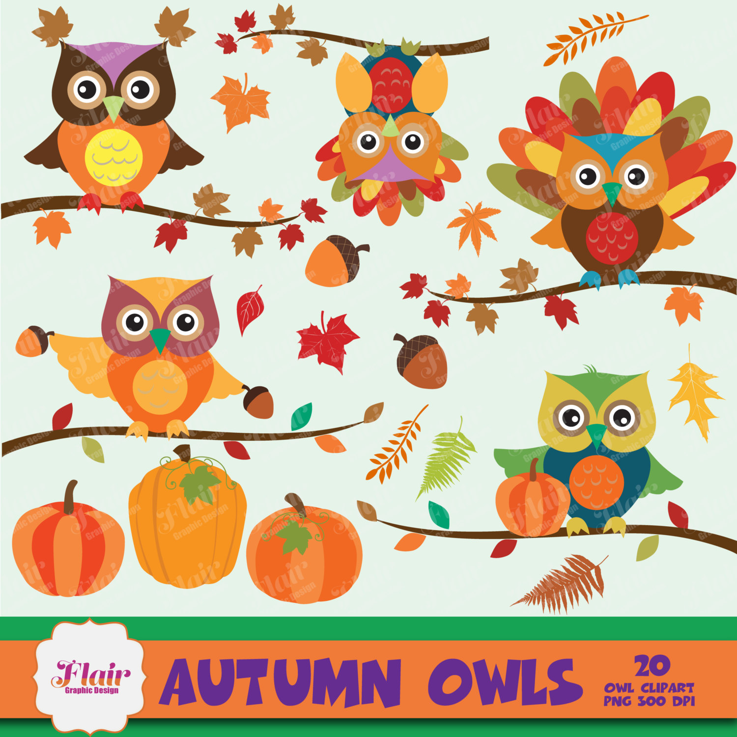 Free Fall Cartoon Wallpaper Clipart Fall Owls Color Clipground