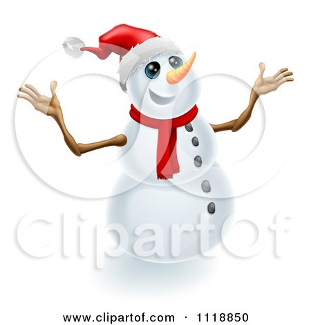 clipart snowman arms - Clipground