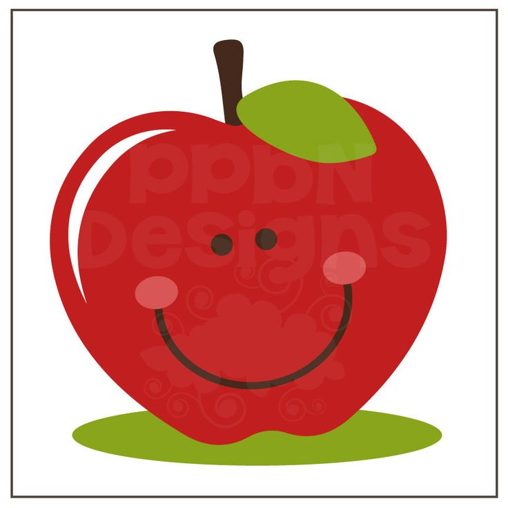 cute clipart of apples - Clipground