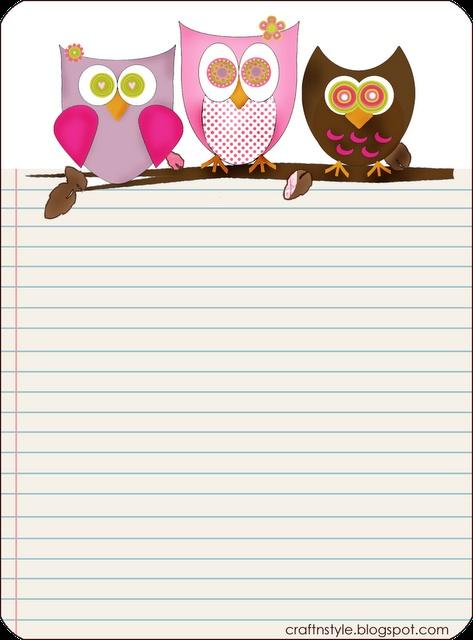 owl template printable