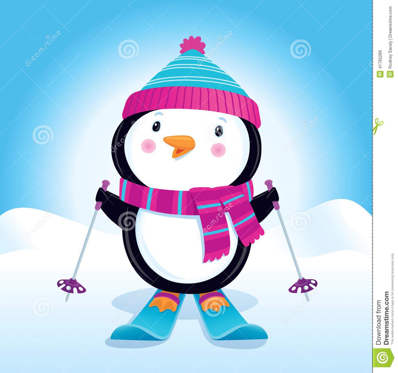 Cute Pink Snowman Wallpaper Cute Skiing Clipart Clipground