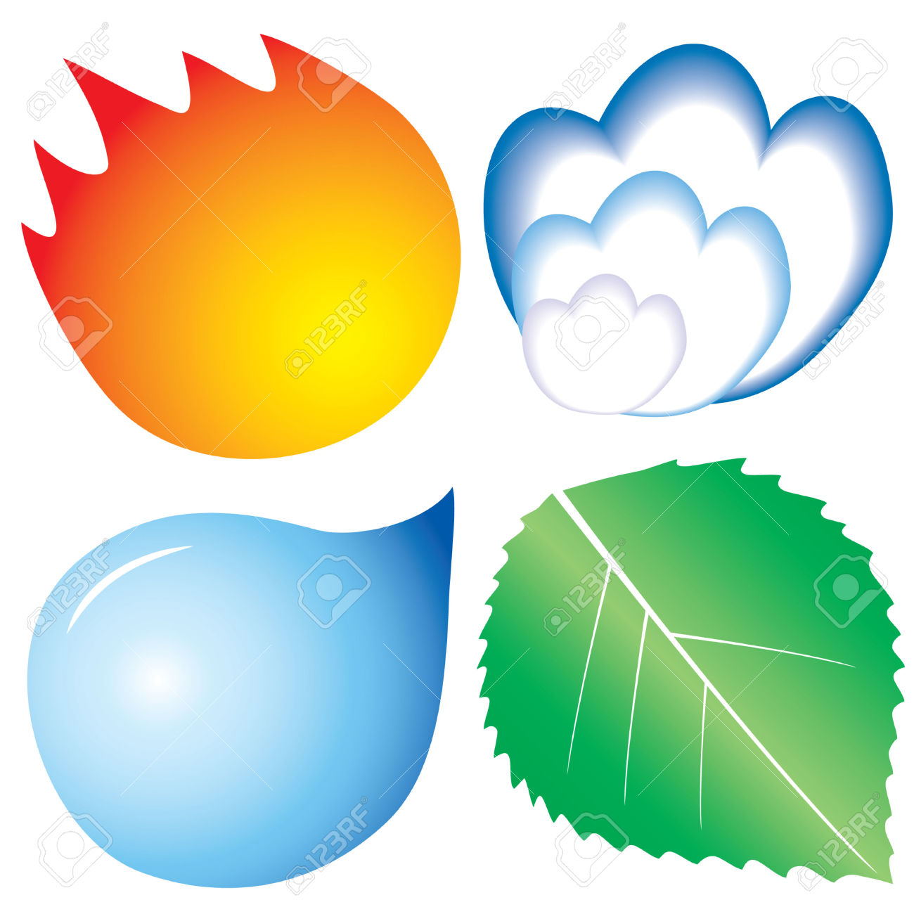 4 Elemente 4 Elements Clipart Clipground