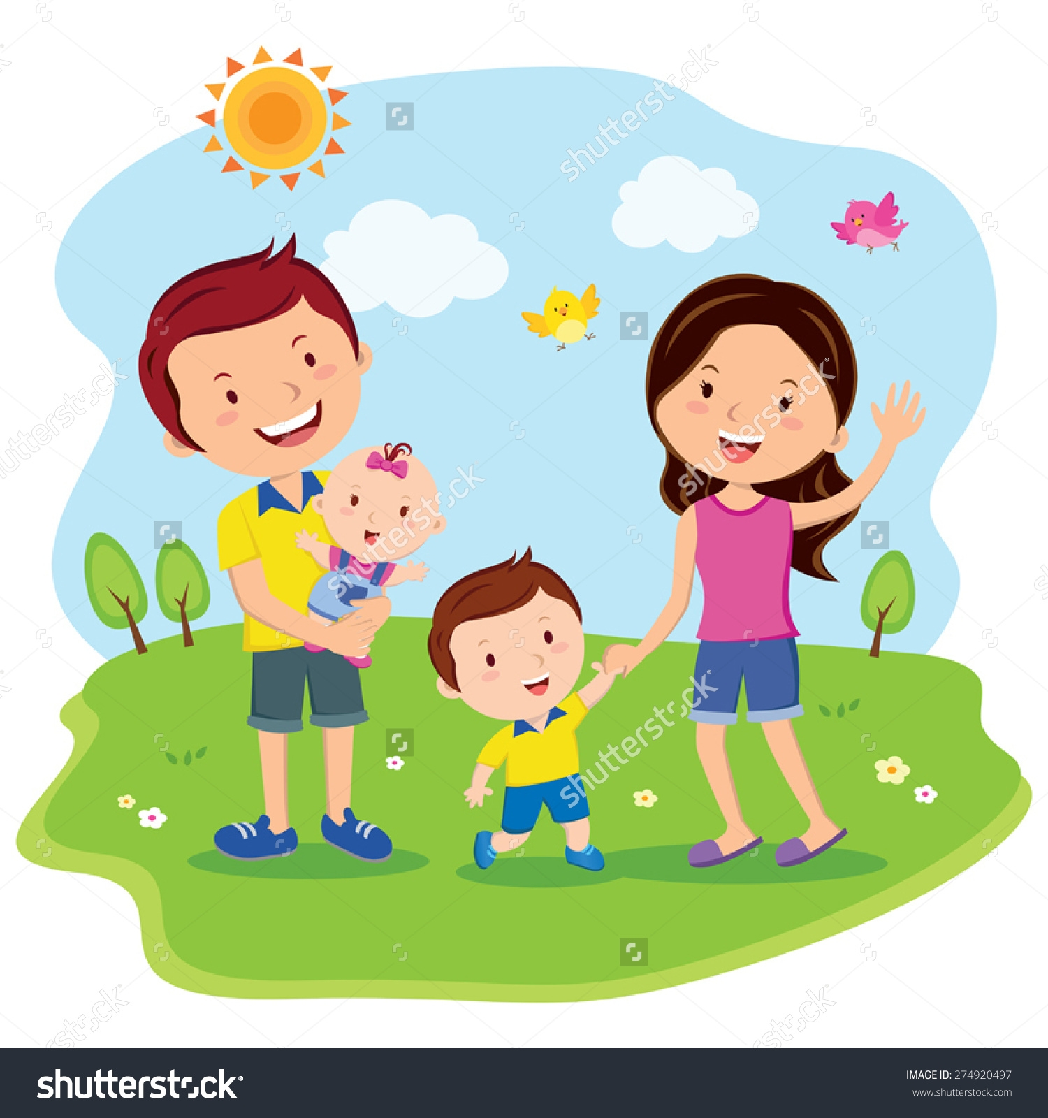 Happy Family Life Clip Art Family Day Clipart Free Clipground