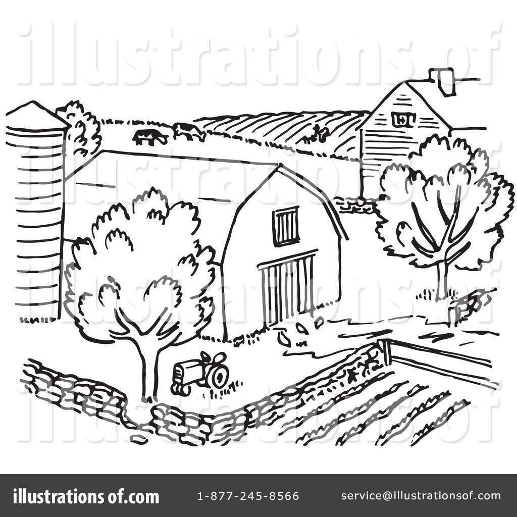 Barnyard Clipart Black And White Farm Black And White Clipart Clipground