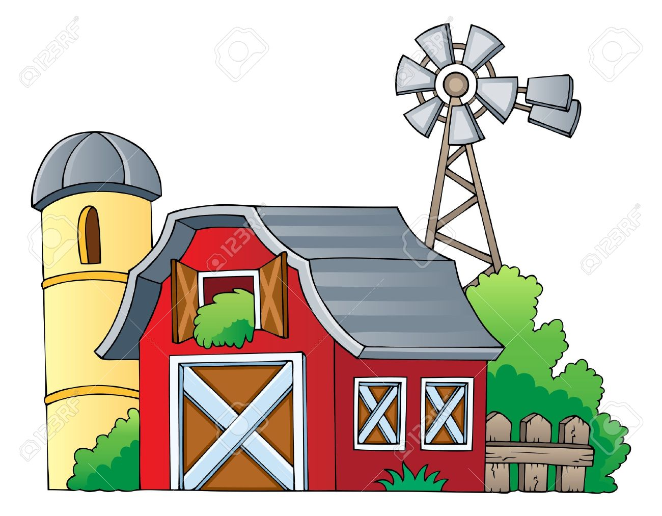 Red Farmhouse Drawing Farmhouse Clipart Clipground