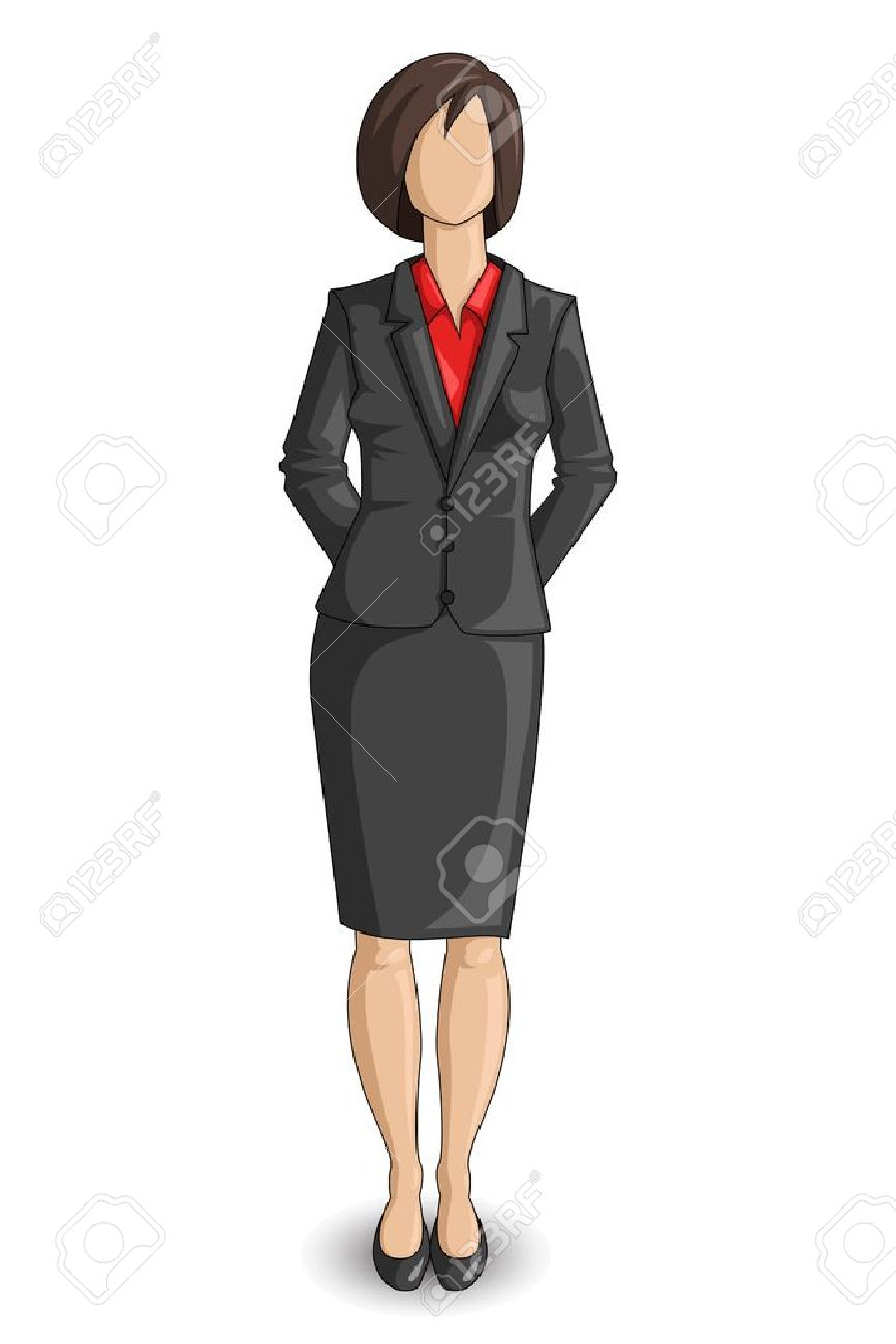 Modern Computer Desk Female Manager Clipart - Clipground