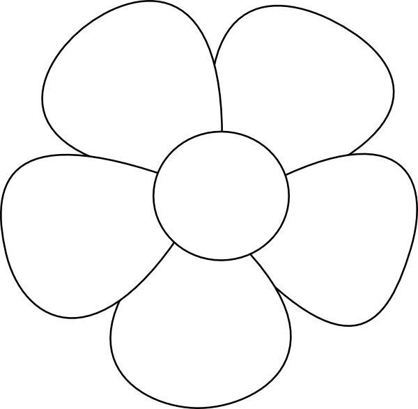 3 Petal Flower Outline Printable. paper rose printable