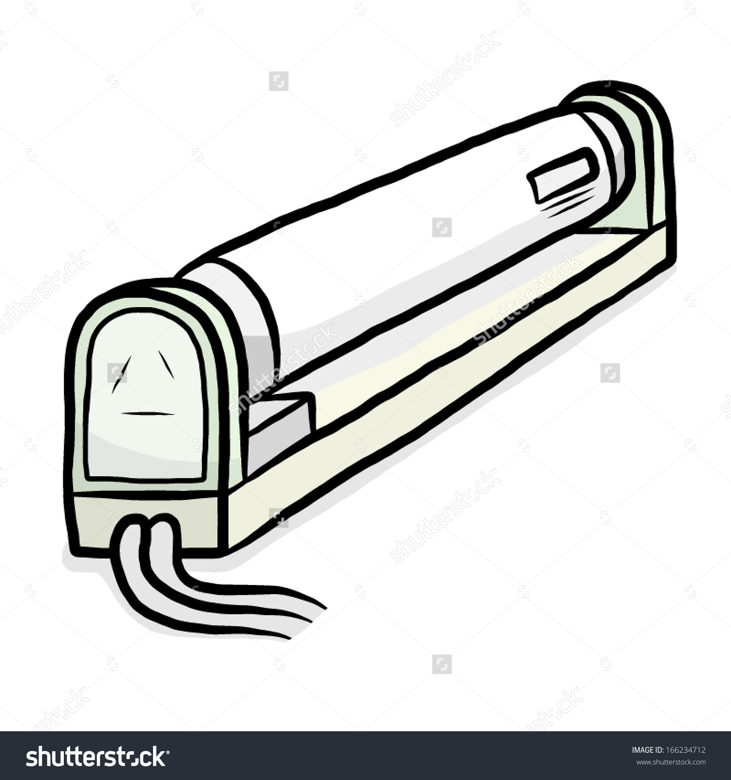 Fluorescent Tube Drawing Fluorescent Tubes Clipart Clipground