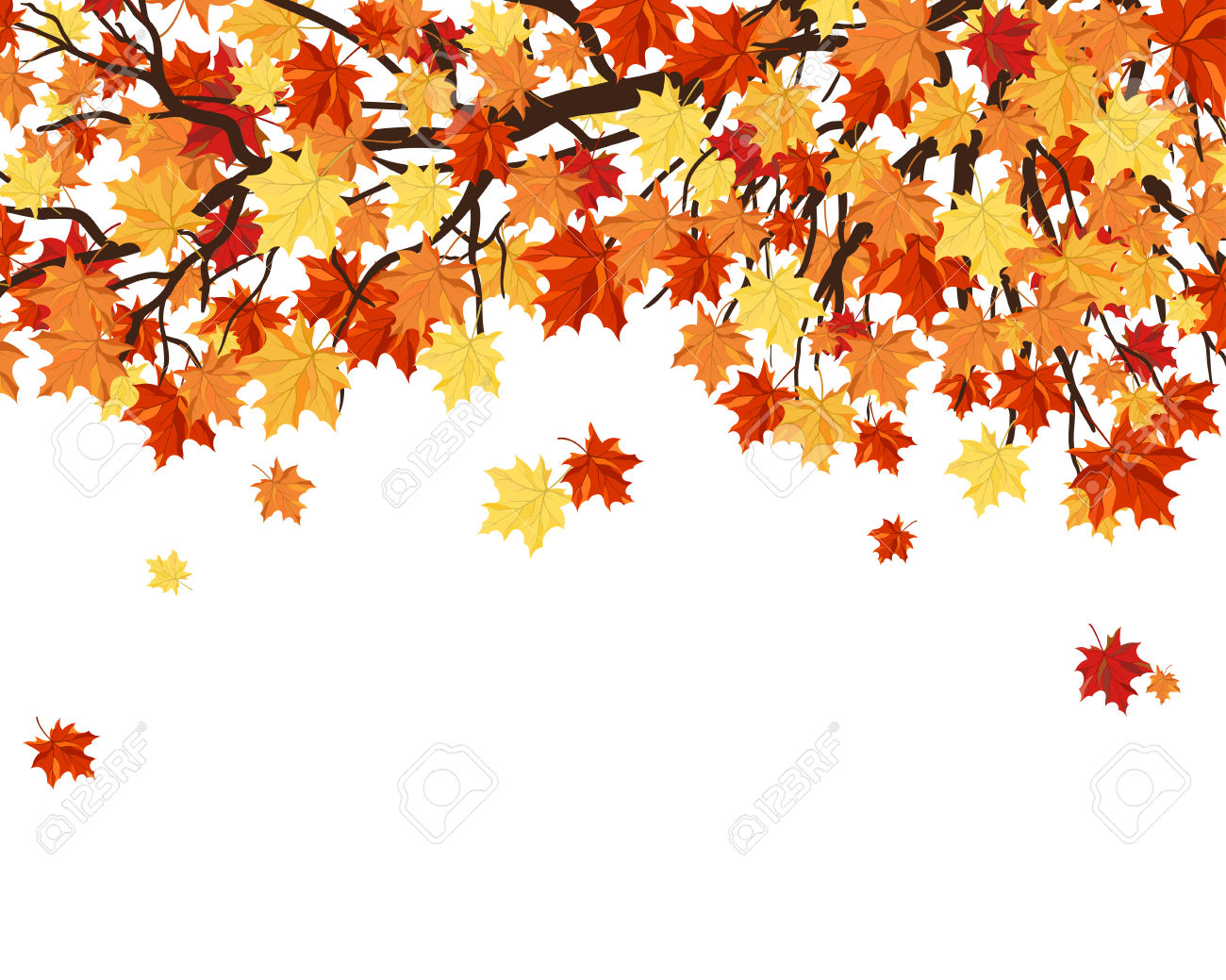 Fall Flowers And Pumpkins Wallpaper Free Tree Watercolor Clipart Clipground