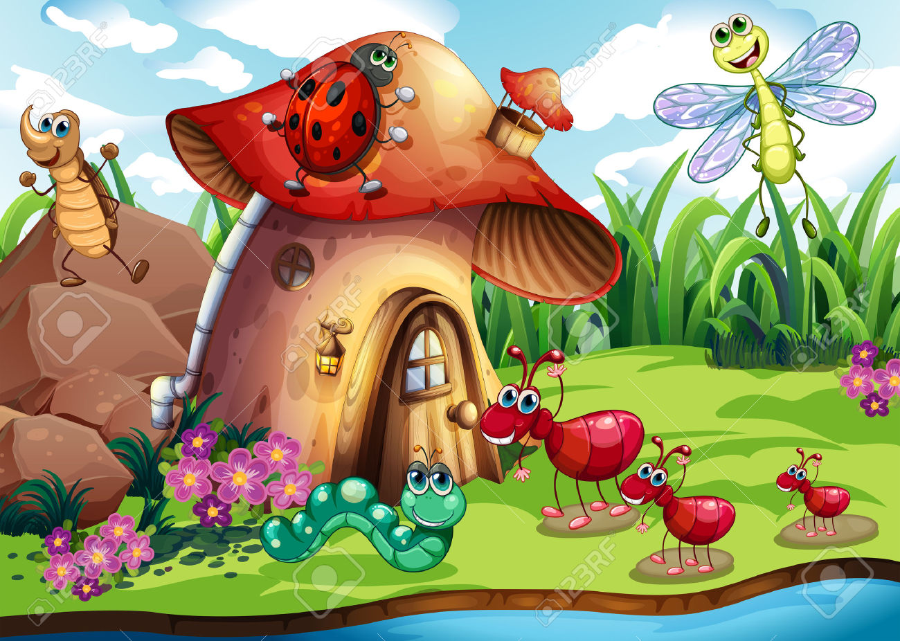 Cute Fairy Wallpaper Download Insect House Clipart Clipground