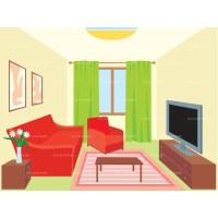Living room clipart - Clipground