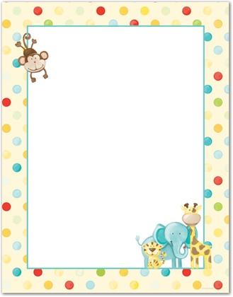 Baby Girl Nursery Wallpaper Borders Jungle Animal Clipart Borders Clipground
