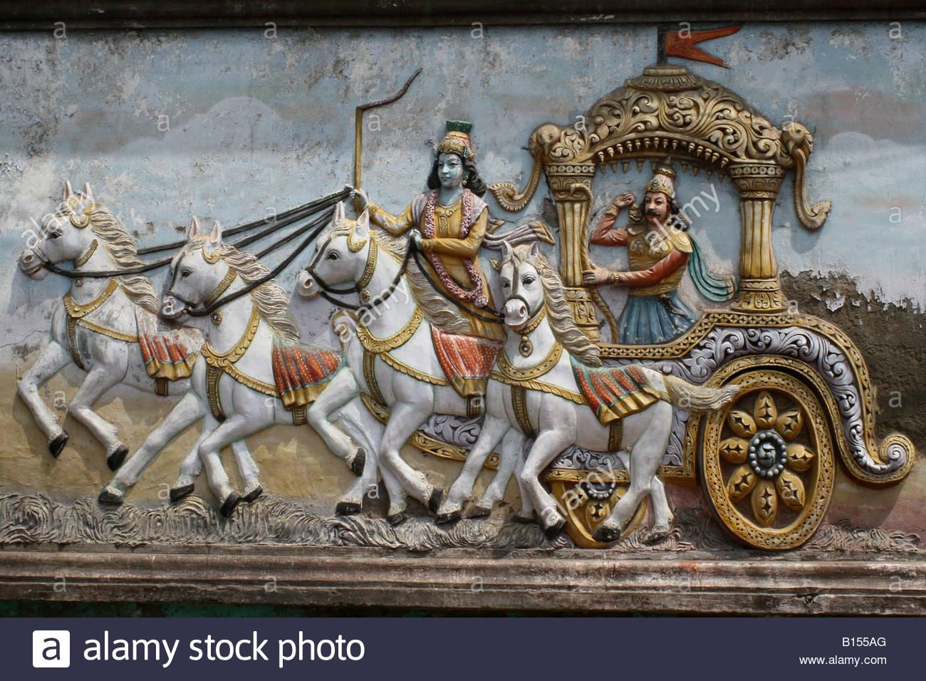Krishna Name 3d Wallpaper Download Krishna Arjuna Chariot Clipart Clipground