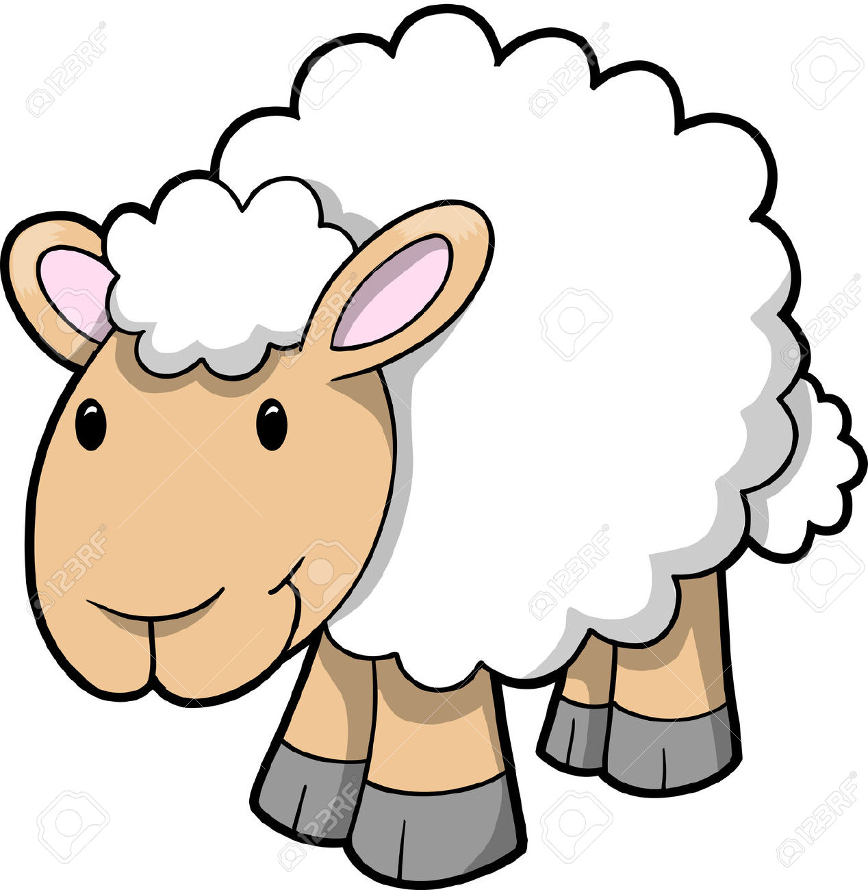 Baby Lamb Drawing Sheep Clipart Clipground