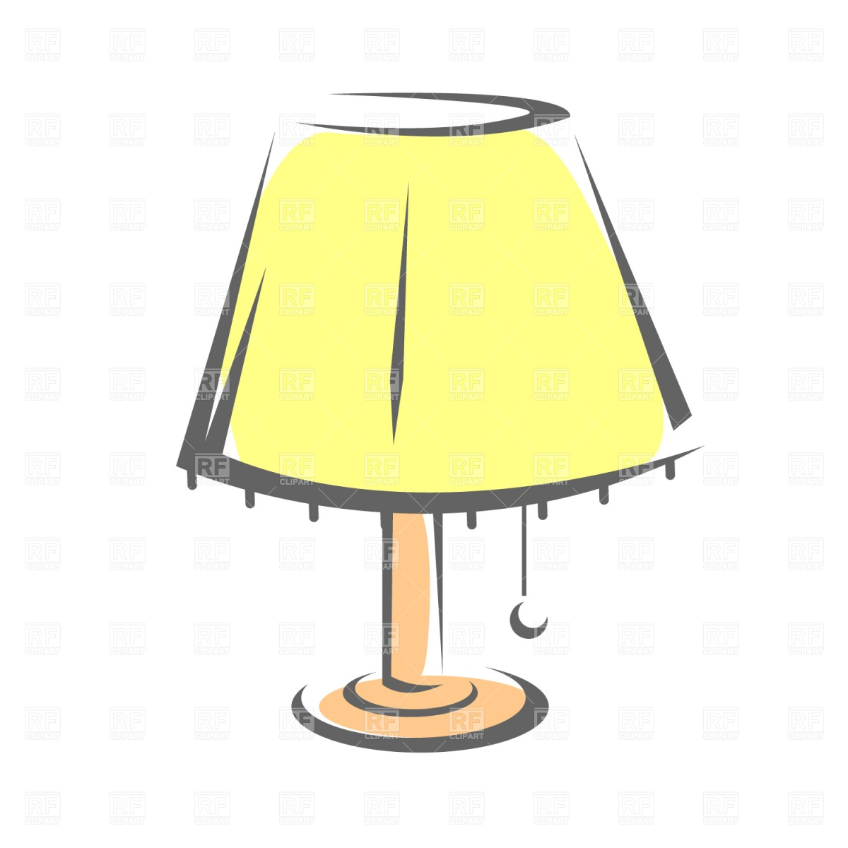 Night Table Clipart Light Shades Clipart Clipground