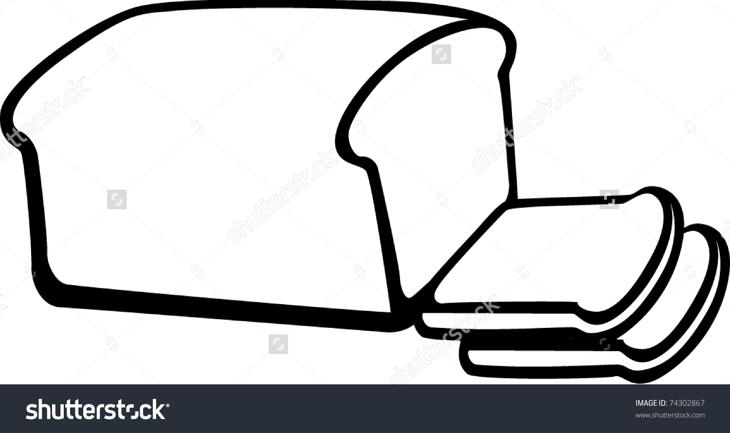 Loaf Clipart Black And White Loaf Clipart Clipground