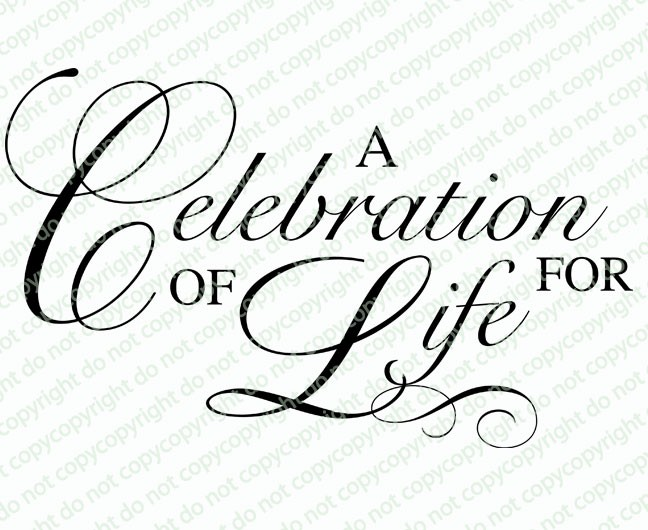 a celebration of life clipart - Clipground